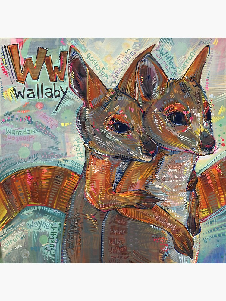 W Is for Wallaby - 2020 by gwennpaints