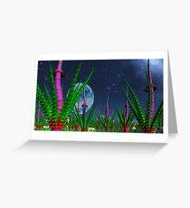 Garden of Alien Delights Greeting Card