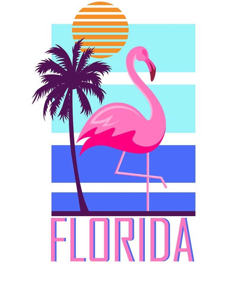Florida Flamingo Retro Sunset Toddler T Shirt
