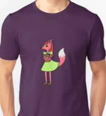 Bookworm Fox Unisex T-Shirt