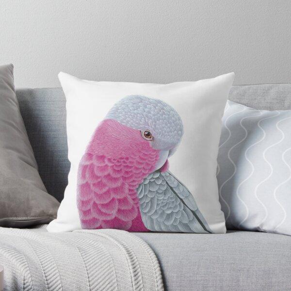 Galah - Pink and Grey Throw Pillow