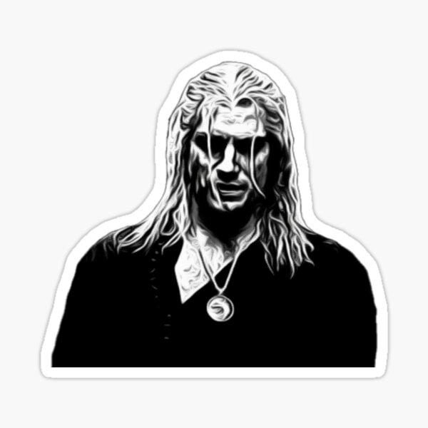 Geralt of Rivia (Black + White) Sticker