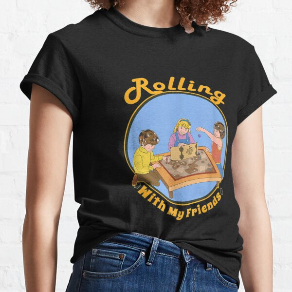 Retro DM Tabletop Gaming Gift Vintage With Friends D20 Dice Classic T-Shirt