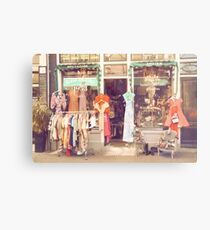 Vintage Fashion Shop Metal Print