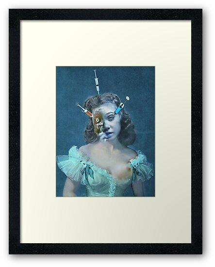 Portrait of a Female Futurist 3. by Andy Nawroski