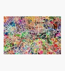 London Map Art Watercolor Photographic Print