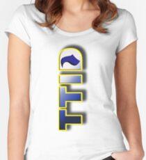 Tottenham Till I Die Sticker Women's Fitted Scoop T-Shirt