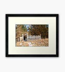 Mystery Gate Framed Print