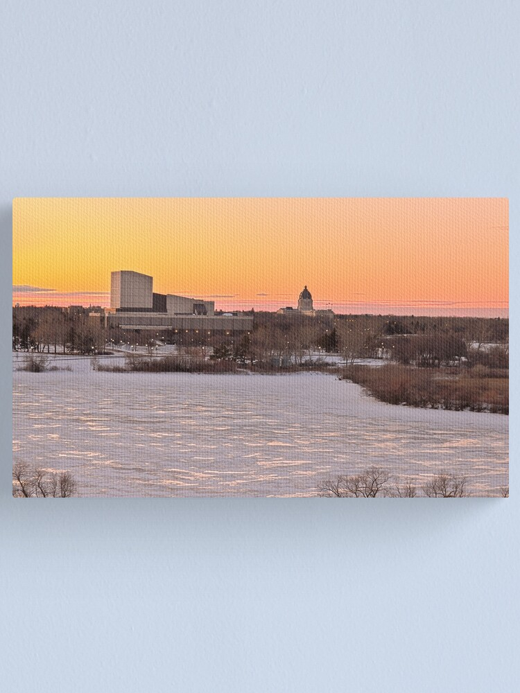 Alternate view of Wascana lake freezing Canvas Print