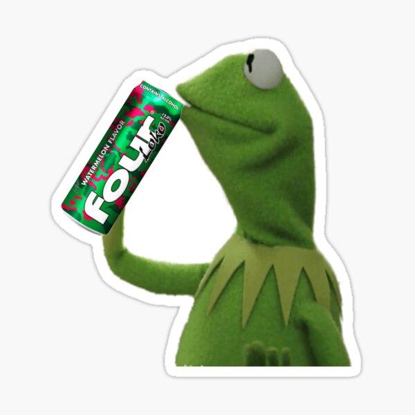 Kermit Sips Four Loko Sticker