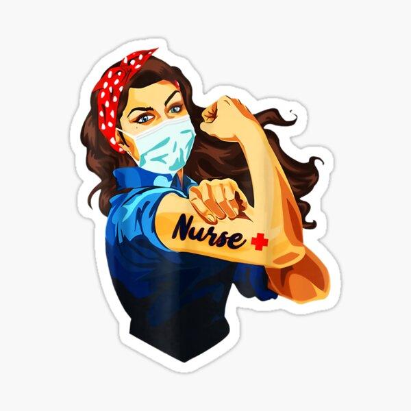 Strong Nurse Rosie Riveter  Sticker