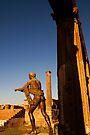 Statue of Apollo in the temple of Apollo, ruins of Pompeii by David Carton