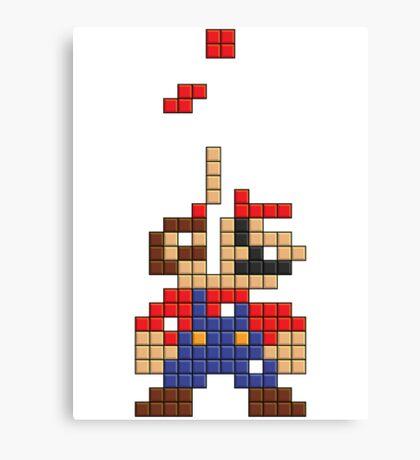 Super Mario Pixel Canvas Print