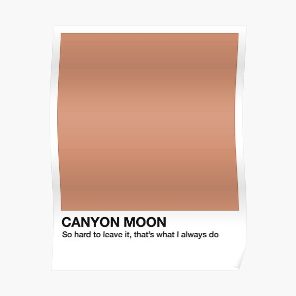 Canyon Moon - Pantone Swatch Poster