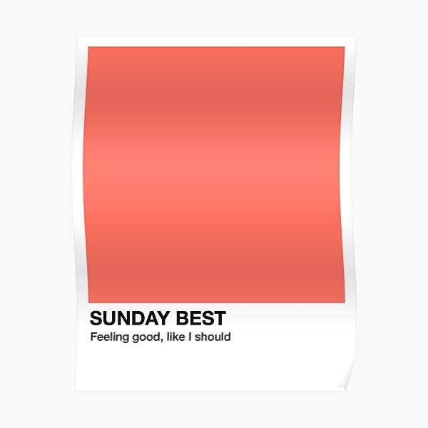 Sunday Best - Pantone Swatch Poster