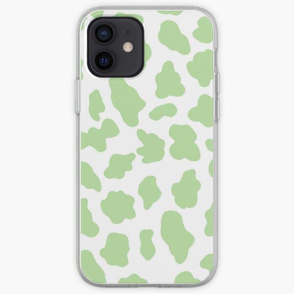 étui de téléphone imprimé vache verte Coque souple iPhone