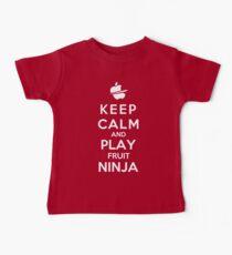 Keep Calm And Play Fruit Ninja Baby Tee
