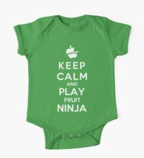Keep Calm And Play Fruit Ninja One Piece - Short Sleeve
