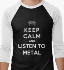 Keep Calm And Listen To Metal Men's Baseball ¾ T-Shirt