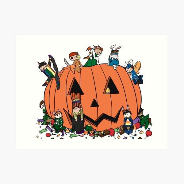 halloween rogues Art Print