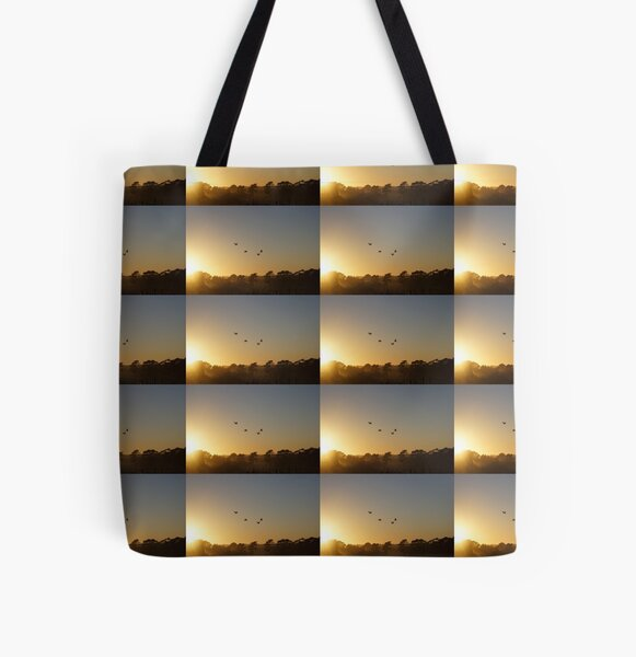 Ibis in the sky - Adelaide Hills - Fleurieu Peninsula - by South Australian artist Avril Thomas All Over Print Tote Bag
