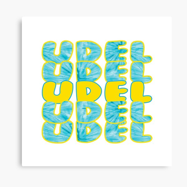 UDEL bubble letters Canvas Print