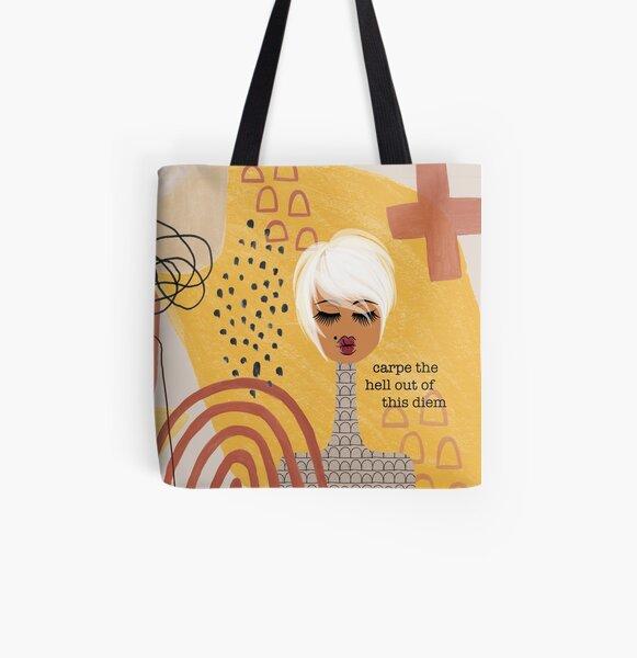 Carpe Diem All Over Print Tote Bag
