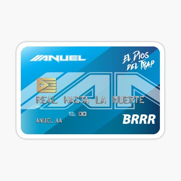 Anuel AA Real Hasta La Muerte Brrr Sticker