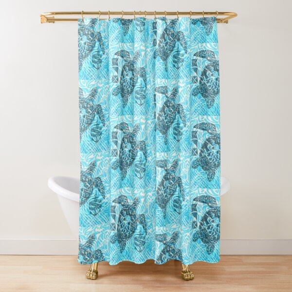 Turtle Print Shower Curtain