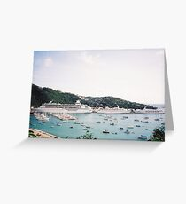 Cruise Ships in St. Thomas, Caribbean Greeting Card