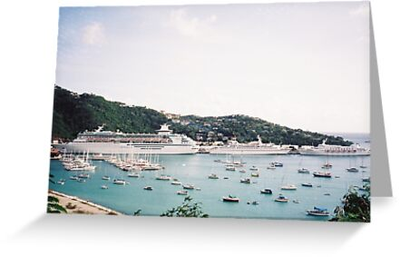 Cruise Ships in St. Thomas, Caribbean by lenspiro
