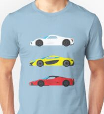 "Modern European Dream Cars ""The Trinity"" Unisex T-Shirt"
