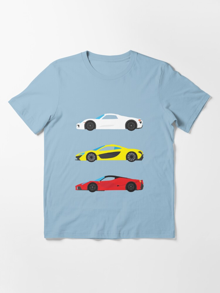 "Alternate view of Modern European Dream Cars ""The Trinity"" Essential T-Shirt"