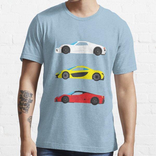 """Modern European Dream Cars """"The Trinity"""" Essential T-Shirt"""