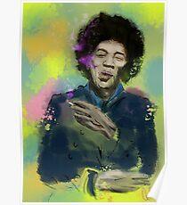 Jimi Colourised  Poster