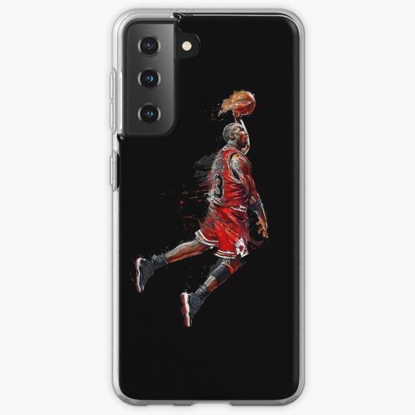 Michael Jordan Jumping Funda blanda para Samsung Galaxy