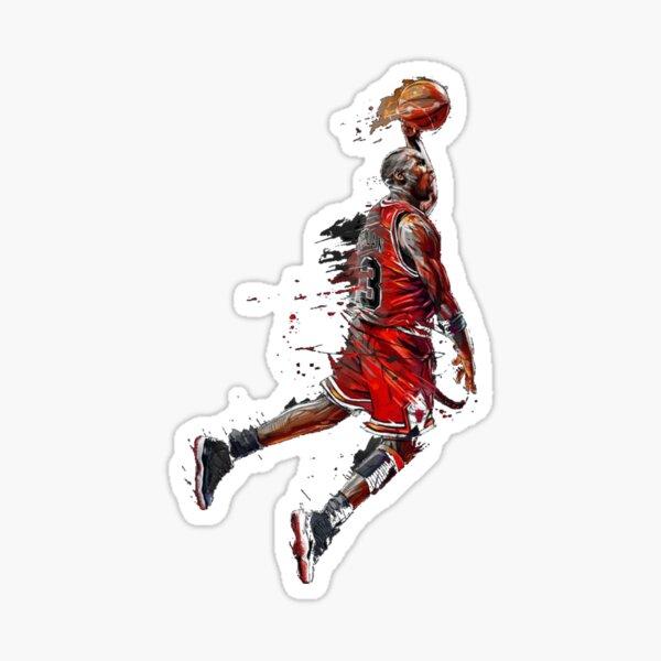 Michael Jordan Jumping Sticker