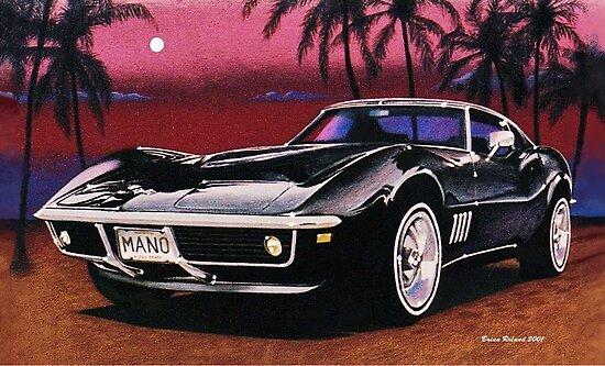 1969 Chevrolet Corvette by brianrolandart