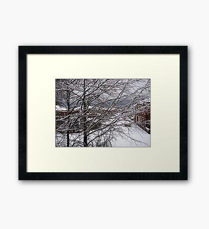 A Snowy Morning in January Gerahmter Kunstdruck