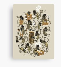 Monkey Magic (brown) Canvas Print