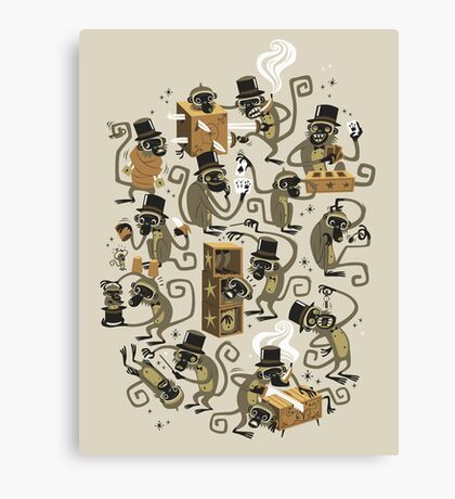 Monkey Magic (brown) Canvas Print