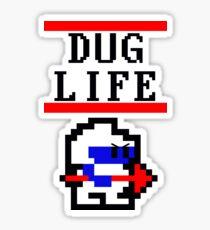 Dig Dug life Sticker