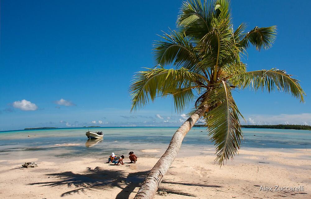 Deserted Beach - Pakin Atoll, Micronesia by Alex Zuccarelli