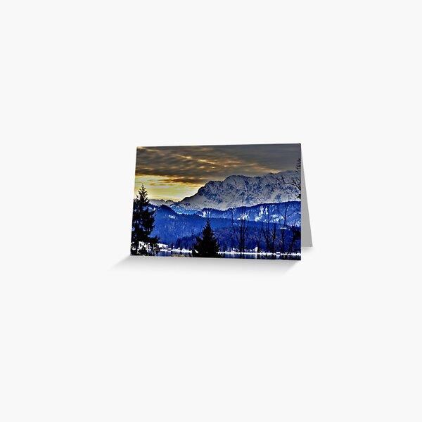Germany, Mountain Karwendel Greeting Card