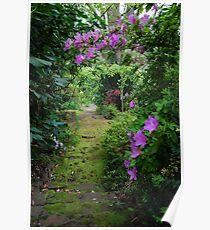 Garden pathway Poster