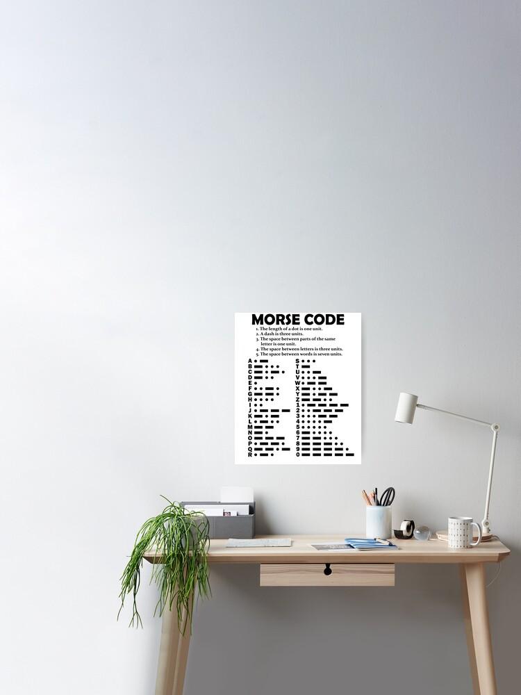 Learn International Morse Code Translator Alphabet Number Chart