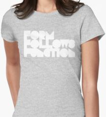 FFF - White Ink Womens Fitted T-Shirt