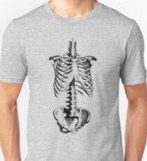 Sleleton drawing of ribs, torso and pelvis Unisex T-Shirt