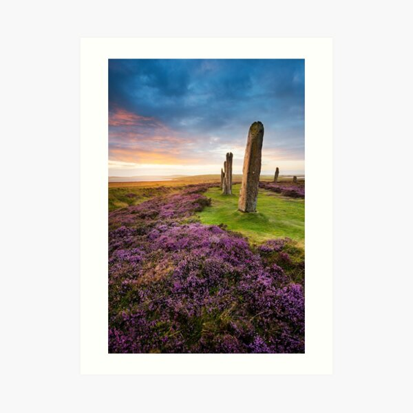 Ring Of Brodgar, Orkney, Scotland Art Print