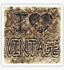 I Heart Vintage #3 T-Shirt Sticker